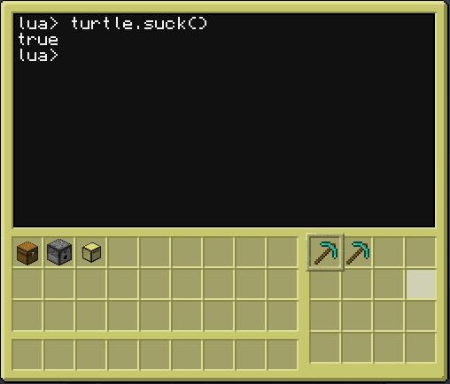 CC turtle.suck() 10
