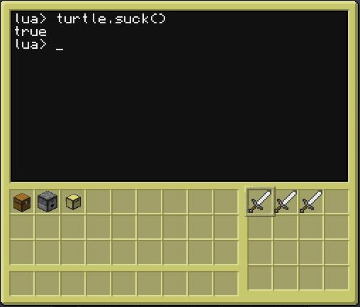 CC turtle.suck() 4